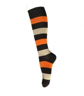 Women kneehigh socks cotton for boots colored stripes Esprit Nordique