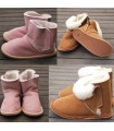 Slipper boots in genuine Lambskin for baby, kids - thermotherapy