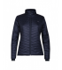 Light and warm women's padded jacket in merino wool