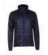 Light and insulating men's jacket for spring and winter dark blue.