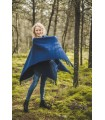 Cape mantle in pure new wool for women