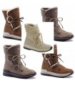 Women's snow boot hydro repellent natural York leather upper Olang