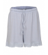 Women's Nightshort in Silk and Wool light blue