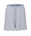 Night Short in wool and Silk light blue