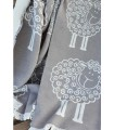 Pure cotton luxurious throws grey sheeps