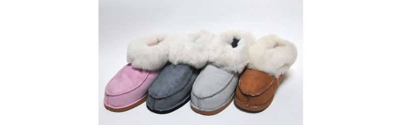 Wool and lambskin slippers - Esprit Nordique